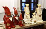 Ilves Keramiikan herkät tonttu- ja enkelikoristeet olivat suosittuja.