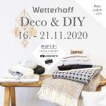 Wetterhoffin sisustus ja tee se itse - teemaisella viikolla kotia koristetaan ihanilla käsitöillä ja valmiilla kotimaisilla sisustustuotteilla ma 16.11.- la 21.11.2020 ajan.